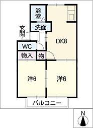 クリスタルビレッジE棟[1階]の間取り