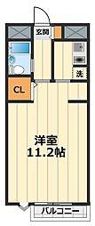 神奈川県大和市大和南1丁目の賃貸マンションの間取り