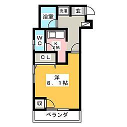 WEST 1[4階]の間取り