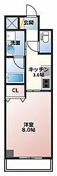 埼玉県春日部市粕壁東2丁目の賃貸マンションの間取り