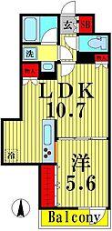東武伊勢崎線 東向島駅 徒歩11分の賃貸マンション 4階1LDKの間取り