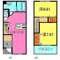 [テラスハウス] 兵庫県高砂市米田町米田 の賃貸【/】の間取り