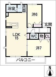 サクシードI[1階]の間取り