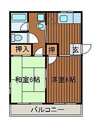 AP OGAWA[2-2号室]の間取り