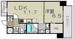 大阪府大阪市福島区福島4の賃貸マンションの間取り