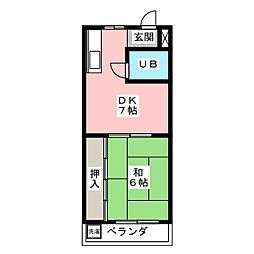 コーポ21[2階]の間取り