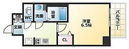 Osaka Metro中央線 九条駅 徒歩5分の賃貸マンション 3階1Kの間取り