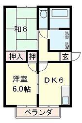 ハイマート野入[1階]の間取り