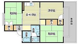 メゾン松本C棟[202号室]の間取り