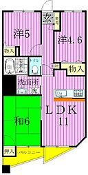 西新井アークタワー[12階]の間取り