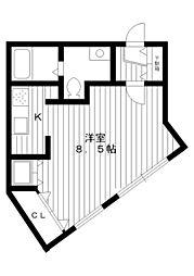 東京都練馬区春日町6丁目の賃貸マンションの間取り