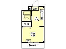 エステート富士見[2階]の間取り