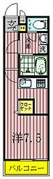 千葉県柏市東上町の賃貸マンションの間取り