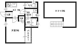 aurora鳳(アローラ鳳)[1階]の間取り