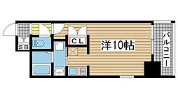 エスライズ新神戸[405号室]の間取り