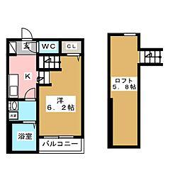 INFIELD箱崎[1階]の間取り