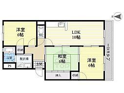 ロベリア山崎[2階]の間取り