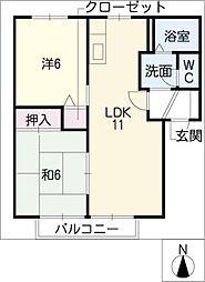 セントレートK[1階]の間取り