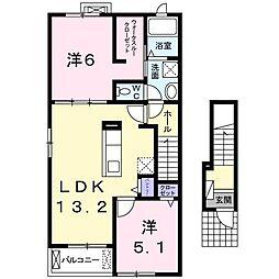 レジデンス タカハシII[0201号室]の間取り