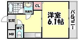 大阪府和泉市幸1丁目の賃貸アパートの間取り