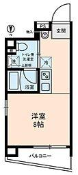 BASE東上野 5階ワンルームの間取り