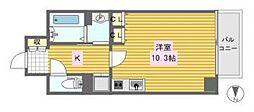 レジェンドール心斎橋東[14階]の間取り