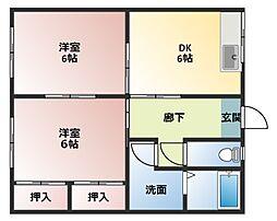 平成コーポ[B105号室]の間取り