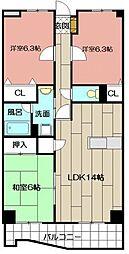 ニューガイア上石田[306号室]の間取り