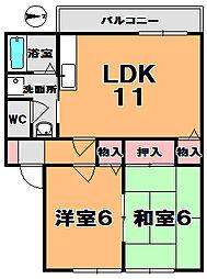 セラビ梅美台[2階]の間取り
