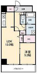 JR高徳線 栗林公園北口駅 徒歩6分の賃貸マンション 9階1LDKの間取り