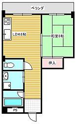 セブン西川マンション[503号室]の間取り