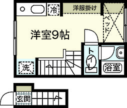 ポルトボヌール弐番館[2階]の間取り