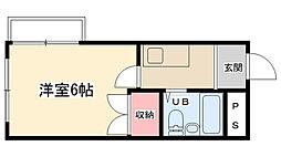 相模原スカイマンション[401号室]の間取り