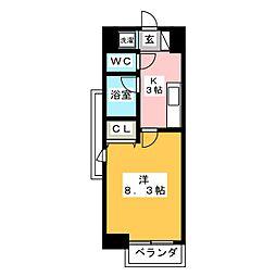 プラウドフラット五橋[11階]の間取り