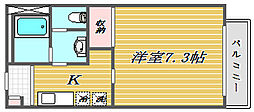 ソレイユ東山[2階]の間取り