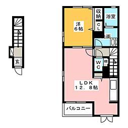 T-ZONE[2階]の間取り