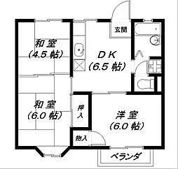メゾンドール2号館[1階]の間取り