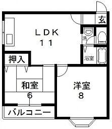 日栄ビル3号館[205号室号室]の間取り