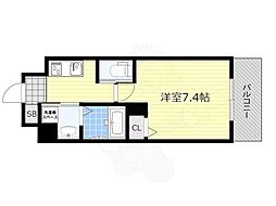 PLAICZ SHIN-OSAKA(旧FDS adorable) 6階1Kの間取り