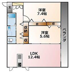 チェリッシュ東甲子園[3階]の間取り