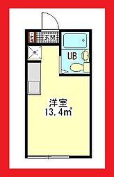 フレッシュメント2[家具・家電付][103号室]の間取り