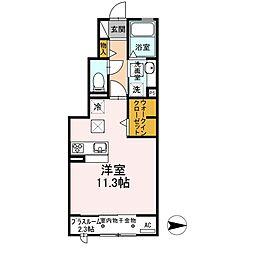 三重県伊賀市緑ケ丘東町の賃貸アパートの間取り