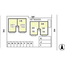 グレイスフル F B[2階]の外観