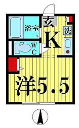ワイジェ西新井[3階]の間取り