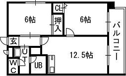 OMレジデンス札幌篠路[00801号室]の間取り