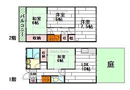 [テラスハウス] 大阪府茨木市上穂積2丁目 の賃貸【大阪府 / 茨木市】の間取り