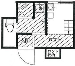 Studio S-COM(スタジオ エス コム)[2階]の間取り