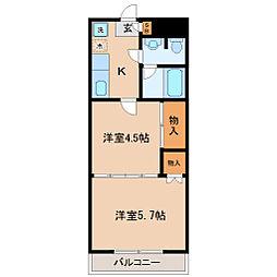 クレールコート[4階]の間取り