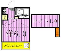 ピースフルハウスAB棟[2階]の間取り