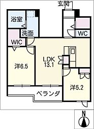 仮)藤森2丁目マンション西棟[2階]の間取り